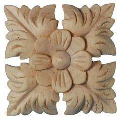 corbels wood ornament  flower carved rose design