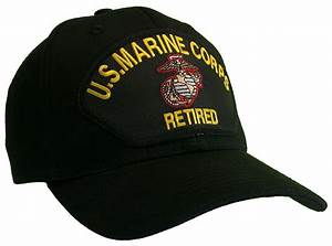 Marine Corps Veteran RETIRED Hat Black Ball Cap USMC ...