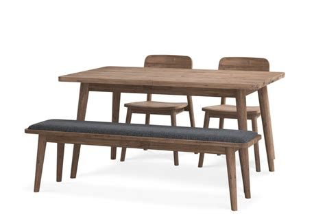 They demonstrate that your family is close because the coffee extendable dining table are made from strong materials that are highly durable to give you long lifespans. Seb Extendable Dining Table with Bench and 2 Chairs   Castlery Singapore