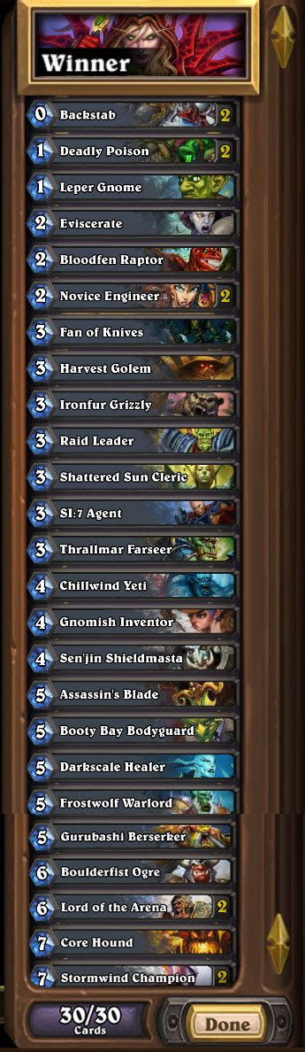 Hearthstone Rogue Deck List by Hearthstone Heroes Of Warcraft Why I M Terrible At It