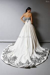 30 black and white wedding dresses combination fashion fuz With black vintage wedding dresses