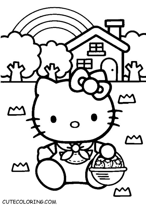 Hello Kitty coloring pages CuteColoring com