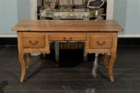French Small Size Three-drawer Wooden Desk For Sale At 1stdibs