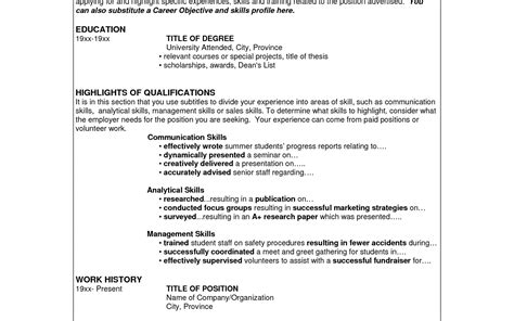 Great Leadership Skills Resume by Objective Sles Word Processor Resume Sle Foreign