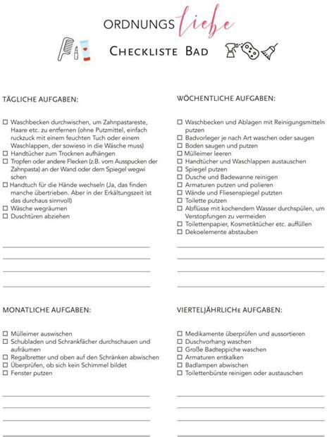 Wohnung Aufräumen Checkliste by Wohnung Aufr 228 Umen Checkliste Checkliste Umzug