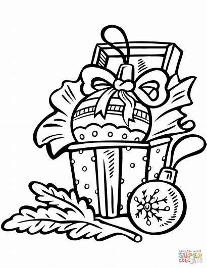 Coloring Ornament Ornaments Christmas Pages Decorations Printable