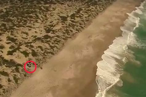Naked And Bleeding Girl Ran From Sand Dunes From Her