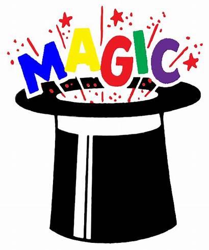 Magic Clip Clipart Magician Hat Lady Wizard