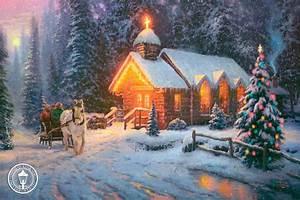 Thomas Kinkade Christmas Wallpapers - Wallpaper Cave