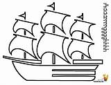 Pirate Ship Coloring Printable Pirates Seas Yescoloring sketch template