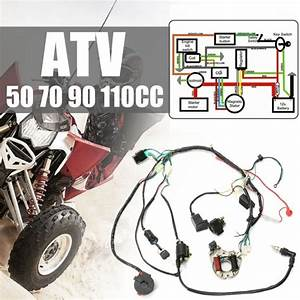 1set New 5 Pins Cdi Wire Harness Assembly Wiring Kit For