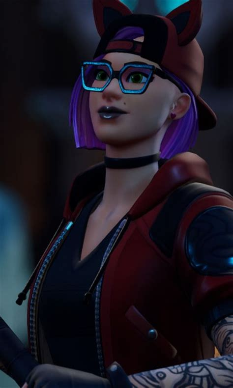 fortnite wallpaper glasses woman skin urban girl