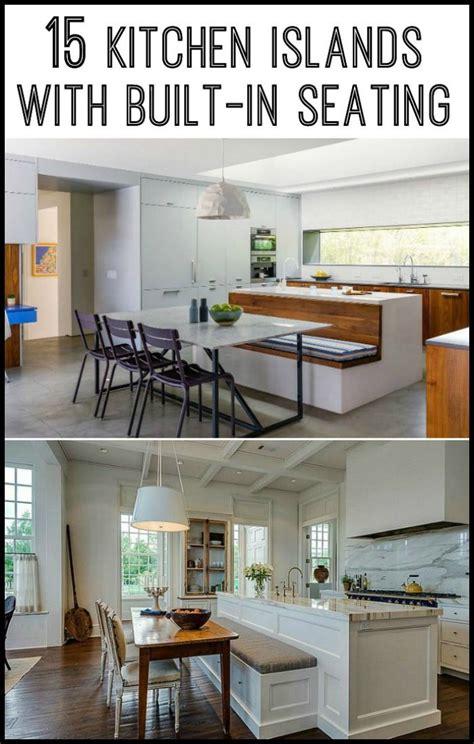 kitchen island  built  seating inspiration diseno