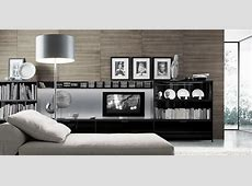 Modern Minimalist Living Room Library Tv Unit Design