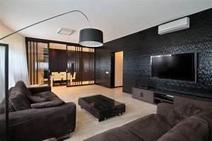 Lampadaire Moderne Salon : lampadaire interieur design 3 d233coration salon moderne en noir pour un int233rieur glamour ~ Teatrodelosmanantiales.com Idées de Décoration