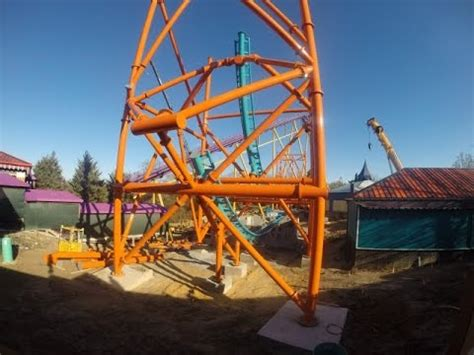 busch gardens new roller coaster 2015 tempesto new roller coaster construction update at
