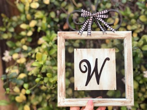 creating  joy farmhouse chic monogram sign   monogram signs blue crafts craft iron