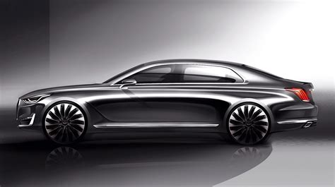 Genesis G90 Rendering Shows What We Can Expect From