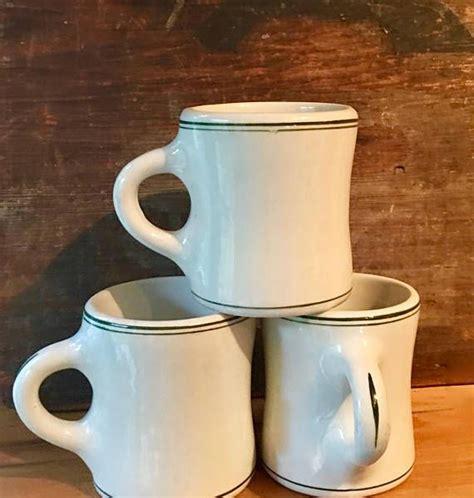 Bistro glossy coffee mug (16 oz., white). Coffee Mug Heavy Durable Diner Coffee Cup with Green Line | Mugs, Coffee mugs, Local diners