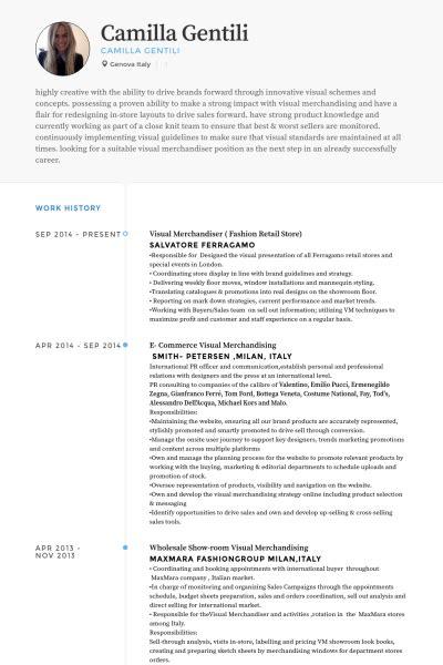 merchandiser resume sles visualcv resume sles database