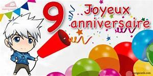 Carte Anniversaire Fille 9 Ans : carte joyeux anniversaire 10 ans ~ Melissatoandfro.com Idées de Décoration