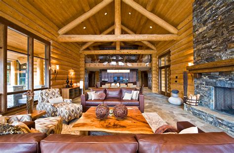 luxury log home plans  bold natural accents ideas  homes