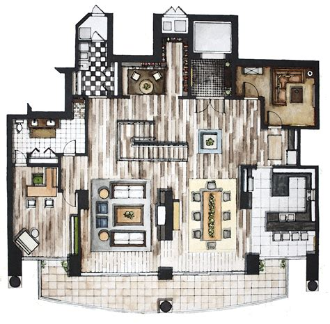 interior floor plans rendering and by rhianna poer at coroflot com