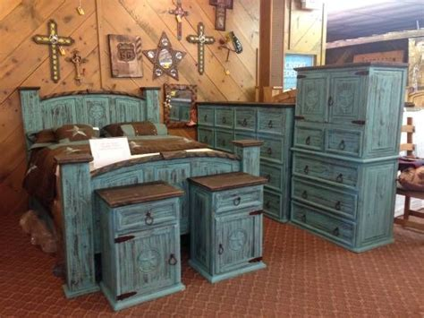 Rustic Bedroom Furniture Turquoise Aqua Finish I Have This