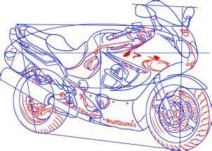motorrad suzuki katana zeichnen lernen schritt fuer schritt