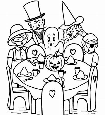 Halloween Coloring Pages Printable Party Games Printables