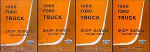 1966 Ford Pickup And Truck Service Specifications Manual