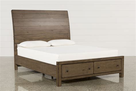 26605 king bed storage frame california king storage bed living spaces