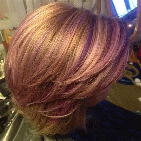 Sassy Purple Highlighted Hairstyles For Short Medium Long Hair Pretty Designs