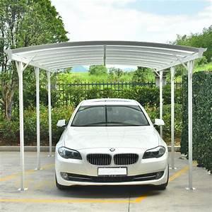 Carport En Aluminium : carport en alu blanc 3x5 05m toit polycarbonate 6mm x metal ~ Maxctalentgroup.com Avis de Voitures