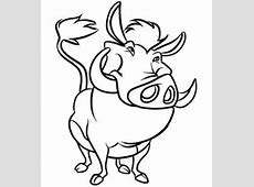 How to Draw Pumba, Step by Step, Disney Characters