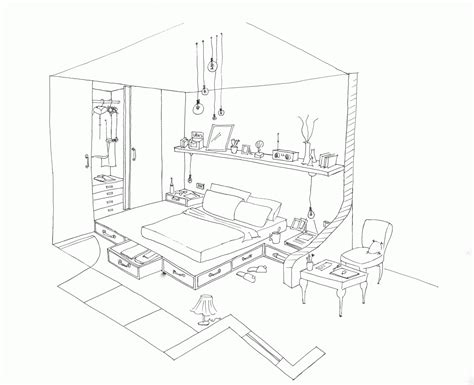 Bedroom  Free Coloring Pages