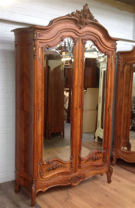antique walnut armoire with carved doors 287475 - Armoire Doors