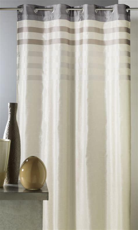 rideau en shantung color 233 avec parement ton sur ton