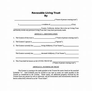 Free 10  Sample Living Trust Form Templates In Pdf