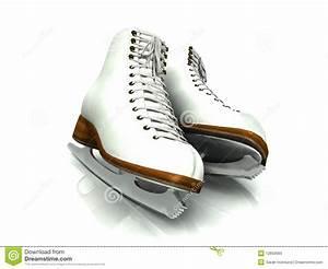 A Pair Of White Figure Skates. Stock Photos - Image: 12650683