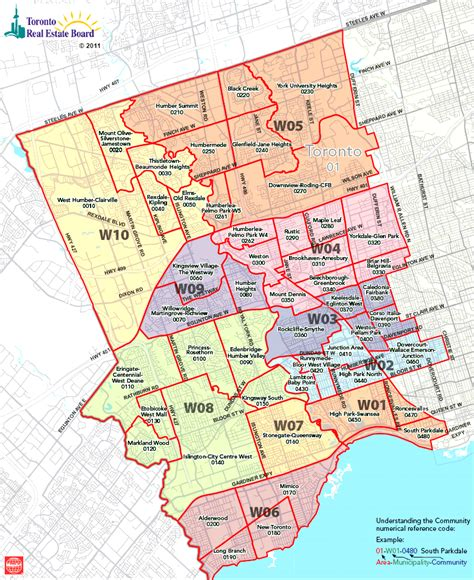 Toronto Real Estate District Maps | West Toronto Map ...
