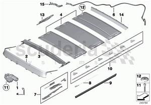 Rolls Royce Ghost Panorama Glass Roof  Mounting Parts