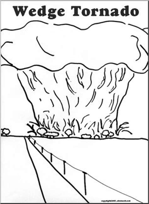 coloring page wedge tornado abcteach