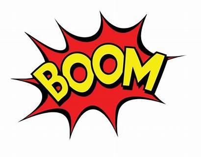 Boom Pow Clipart Zap Transparent Bang Comic