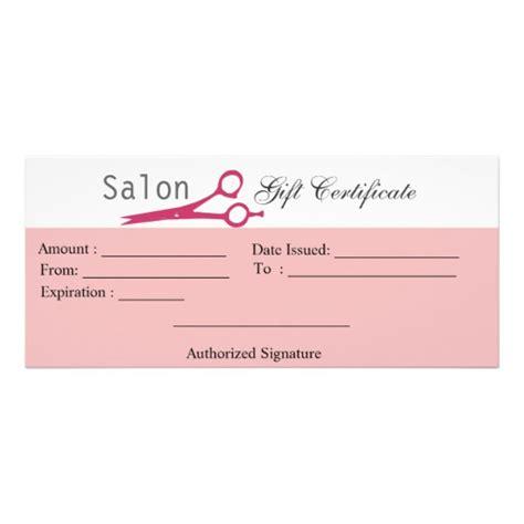 salon hair stylist cosmetologist gift certificate rack