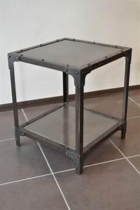 bout de canape industriel metal destockage grossiste With nettoyage tapis avec bout de canapé industriel