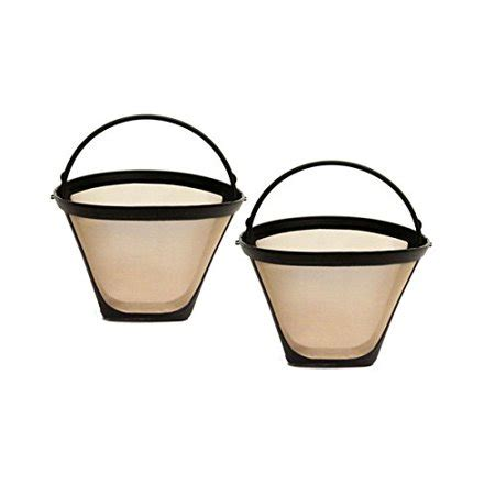 After using the filter, we can choose to wash directly with water or put the gold cone filters into the dishwasher. GoldTone 8-12 Cup Reusable #4 Cone Style Coffee Filters ...