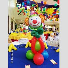 Clown Balloon Table Centerpiece  Party Decor By J & J