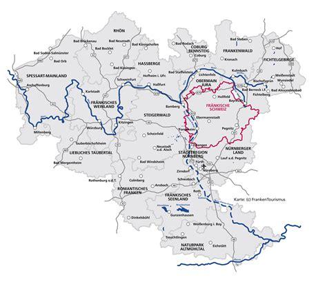 ihr weg zu uns  die fraenkische schweiz  bayern