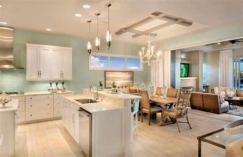 cuisine americaine de luxe demeure à miami à l architecture intérieure ouverte